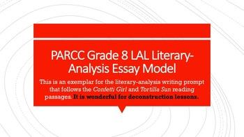 PARCC Grade 8 LAL Literary- Analysis Essay Model