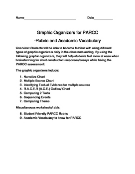 PARCC Graphic Organizers