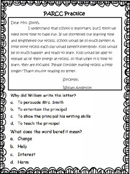 PARCC-like Language Arts 3rd Grade