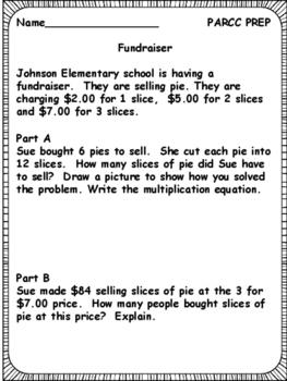 PARCC-Like 3rd Grade Math