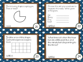 PARCC Like Mathematics Task Cards (3rd Grade)