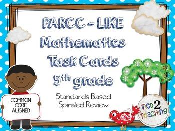 PARCC Like Mathematics Task Cards (5th Grade)