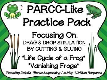 PARCC-Like Practice #12: ELA-- FROG LIFE CYCLE and VANISHING FROGS