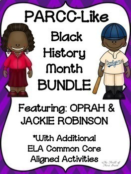 PARCC-Like Practice BLACK HISTORY MONTH BUNDLE: ELA