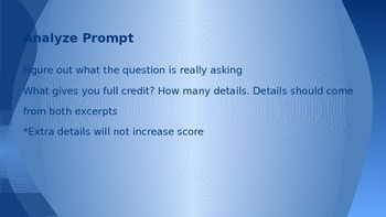 PARCC Literary Analysis Task LAT PowerPoint (Process for responding and Outline)