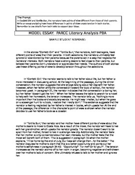 PARCC Literary Analysis Teacher Model (Example Essay)