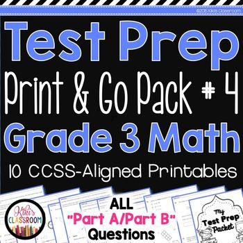 Math Test Prep 3rd Grade - SBAC & PARCC