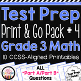 Math Test Prep 3rd Grade - SBAC Prep, PARCC Practice - Part A Part B Questions