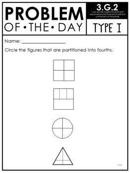 PARCC Math 3rd Grade Geometry