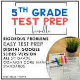 Distance Learning | Test Prep PARCC Math 5th Grade Bundle