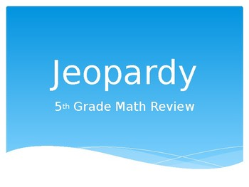 PARCC Math Jeopardy Review Game 4th/5th Grade