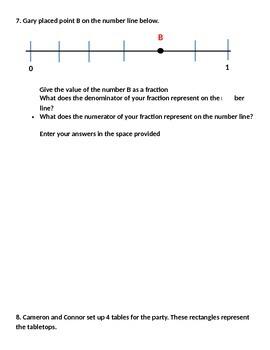 PARCC Math Practice Test 3rd Grade