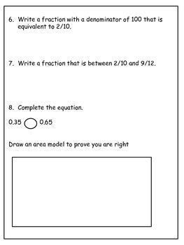 PARCC-like Math Practice Test: 4th Grade