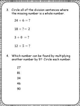 PARCC: Math Test Practice for 3rd Grade