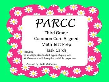 PARCC Math Test Prep Task Cards Third Grade