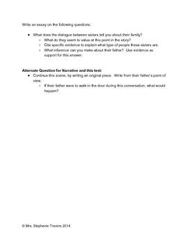 "COMMON CORE TEST PREP: Narrative: Character Analysis Grades 6-8 ""Little Women"""