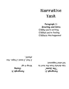 PARCC Narrative Task (Grade 3) Foldable