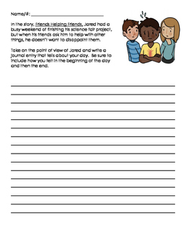 PARCC Narrative Task (Grade 3) Friends Helping Friends