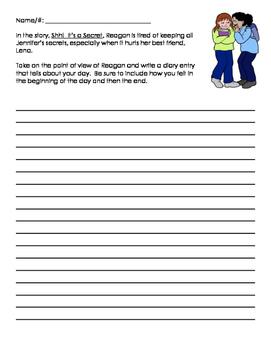 PARCC Narrative Task (Grade 3) Shh!  It's a Secret!