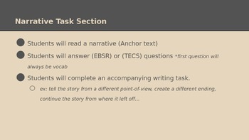 PARCC Narrative Task PowerPoint (Outlines section and Types students will see)