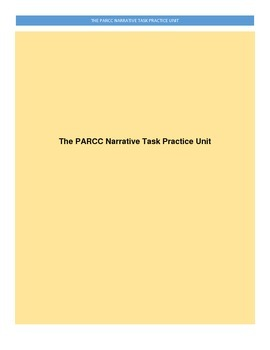 PARCC Narrative English Writing Task Practice Unit