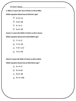 PARCC PBA Math Practice Questions