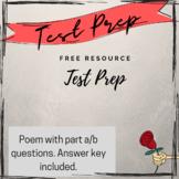 NJSLA/PARCC PREP: Part A/ Part B Questions (Poem)