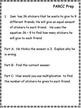 PARCC Practice: 3rd Grade Language Arts and Math