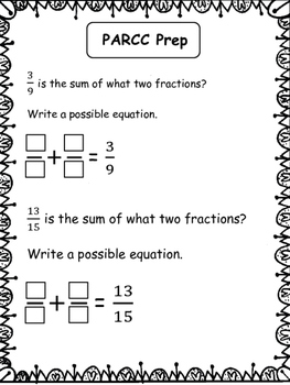 PARCC-like Practice: 4th Grade Math