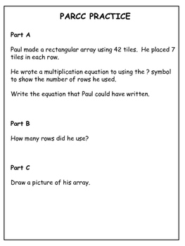 PARCC-like Practice: 4th Grade Math