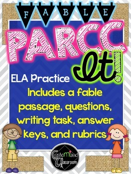 PARCC Practice ELA - Fable with answer key