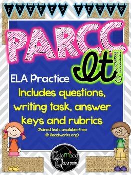 PARCC Practice - Fiction with Answer Key