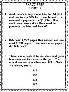 PARCC Practice: Prep for 3rd Grade Math