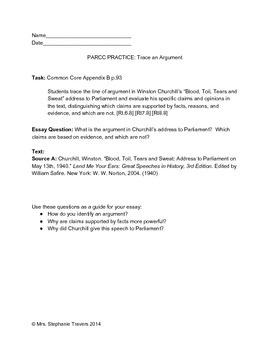 COMMON CORE TEST PREP: Trace an Argument Grades 6-8