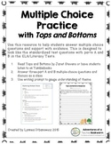 Multiple Choice Test Prep with Tops and Bottoms by Janet Stevens