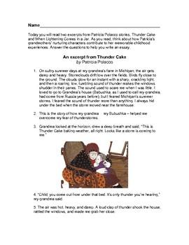 PARCC Prep Paired Fiction - Patricia Polacco