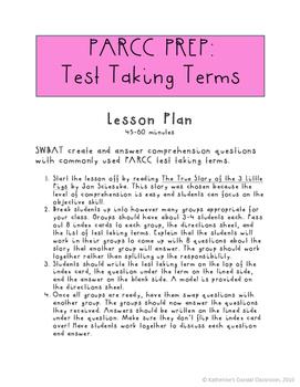 PARCC Prep: Test Taking Terms