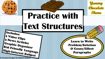 Problem/Solution Cause/Effect Text Structures Test Prep Chocolate Lesson 5 6 7 8