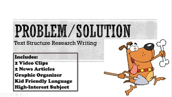 Problem/Solution Text Structure Research Writing Test Prep Lesson 5 6 7 8 9