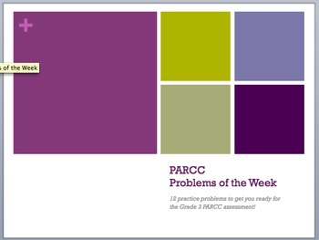 PARCC Problems of the Week (and solutions!)