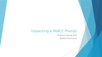 PARCC Writing: How to Breakdown a Prompt