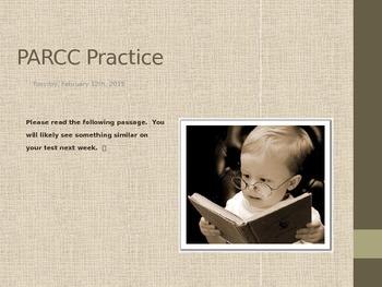 Test Prep: PARCC Reading Practice and Preparation
