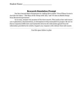 PARCC Research Simulation Prompt