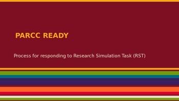 PARCC Research Simulation Task PowerPoint (Outline process