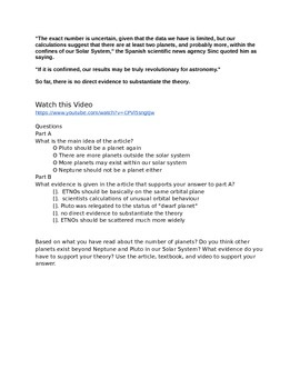 PARCC Research Simulation Task Prep RST (Science)