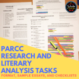 PARCC Research Simulation and Literary Analysis: Format and Sample Essays
