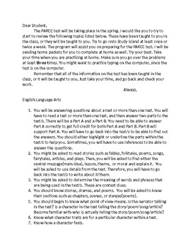 PARCC Review for a Third Grade Student