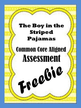 Common Core Aligned Boy in the Striped Pajamas Assessment Free