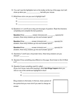 PARCC Scavenger Hunt - Grades 3-5 ELA
