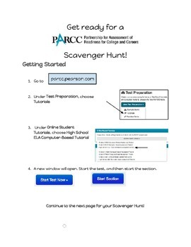 PARCC Scavenger Hunt - High School ELA